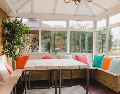 Conservatory made comfortable in summer